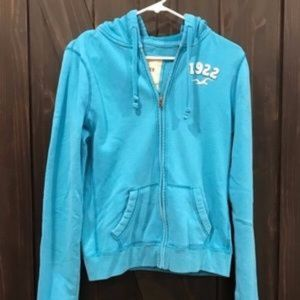 Teal Hollister hoodie size Large